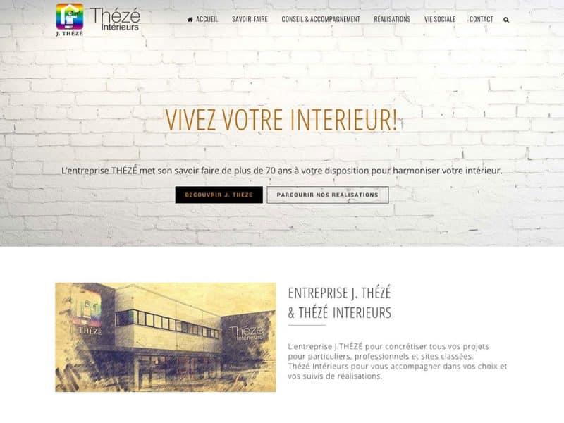 Site web Thézé Peinture