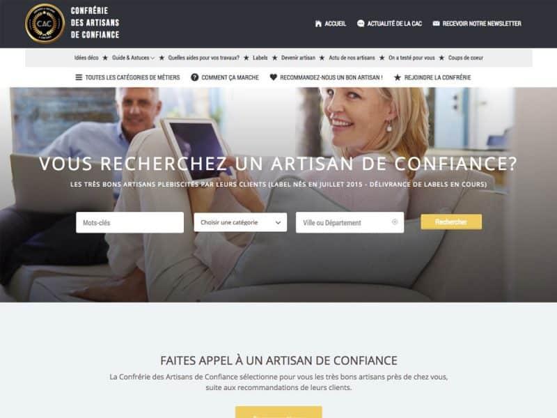 Site web Label Artisans de Confiance