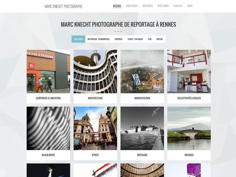 Site web Marc Knecht Photographe