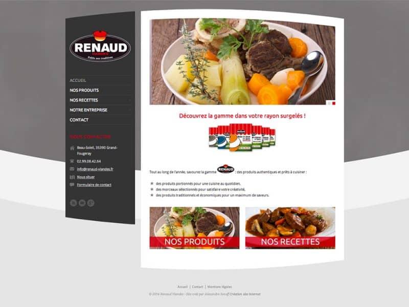 Site web Renaud Viandes