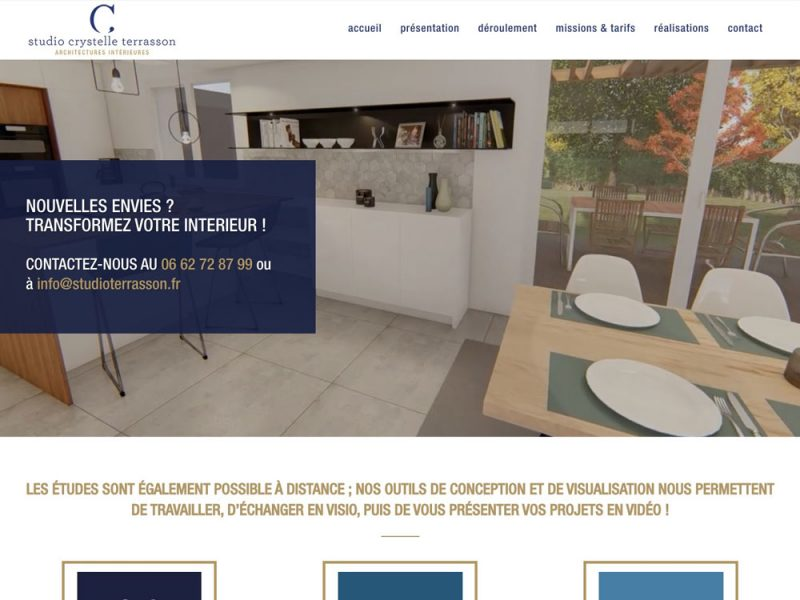 Studio Crystelle Terrasson - site web
