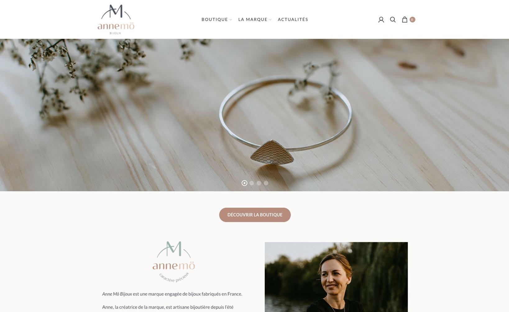 AnneMö Bijoux - site web bureau