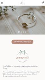 AnneMö Bijoux - site web mobile