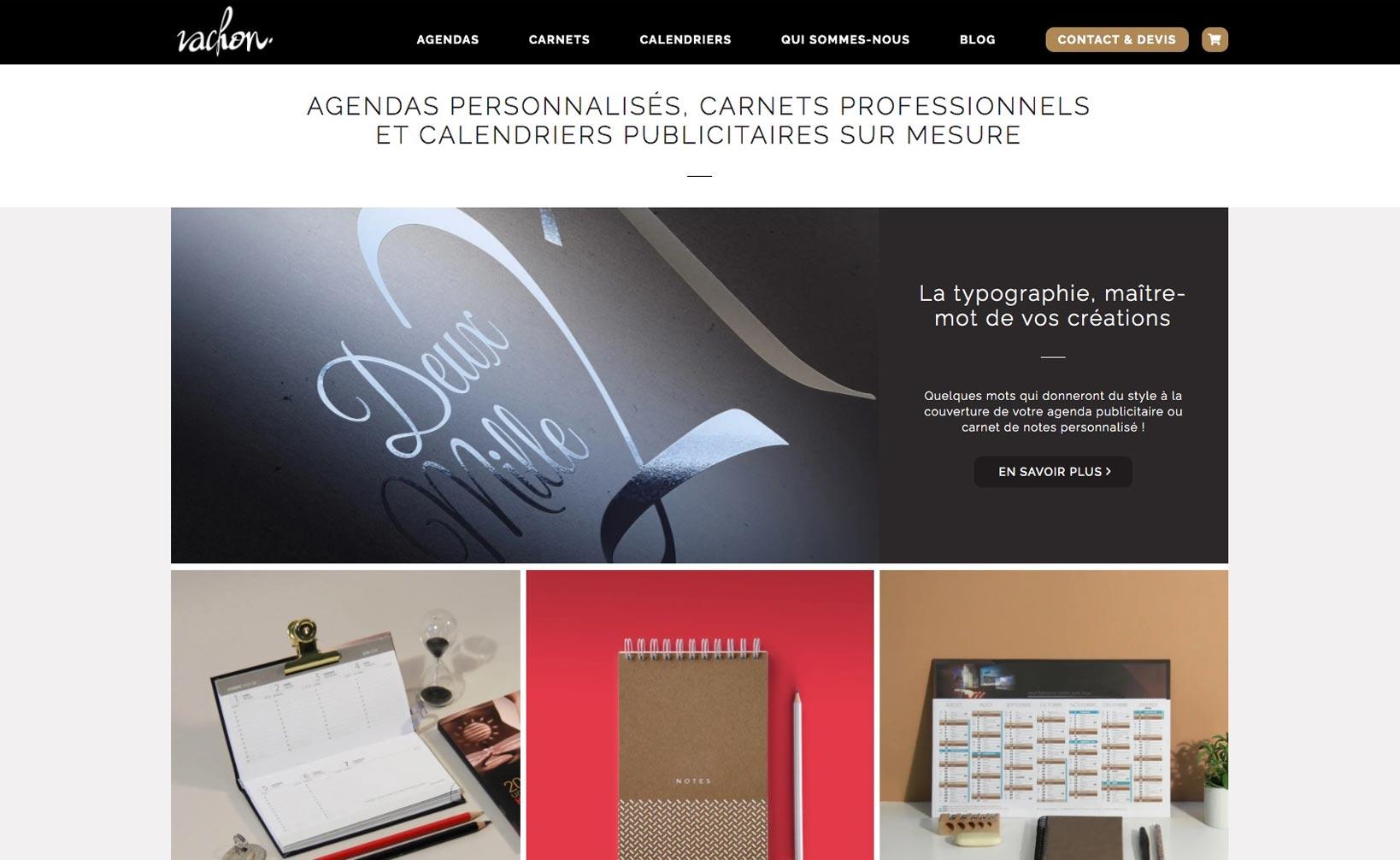 Vachon Agendas - site web bureau