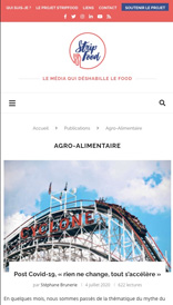 StripFood - site web vue mobile