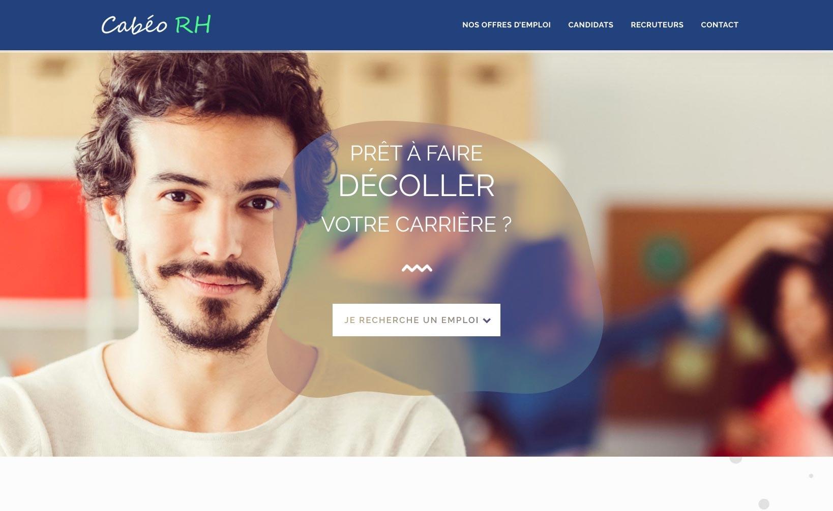 Cabéo RH - site web vue bureau