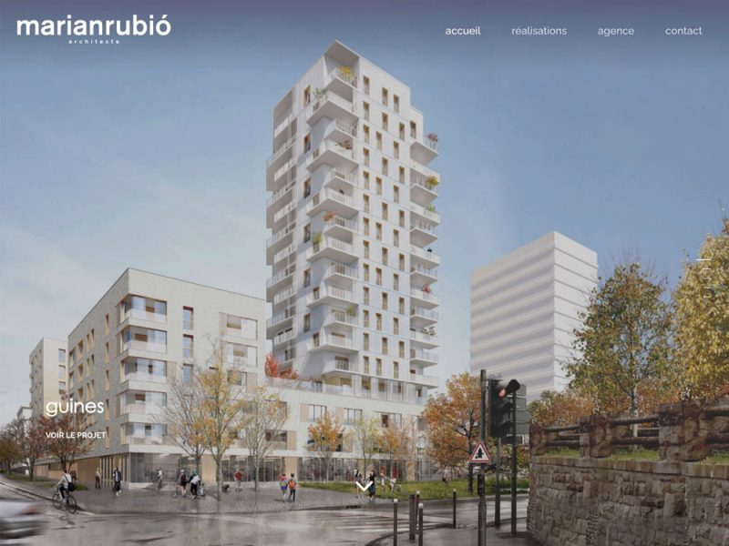 Marian Rubio Architecte - site web