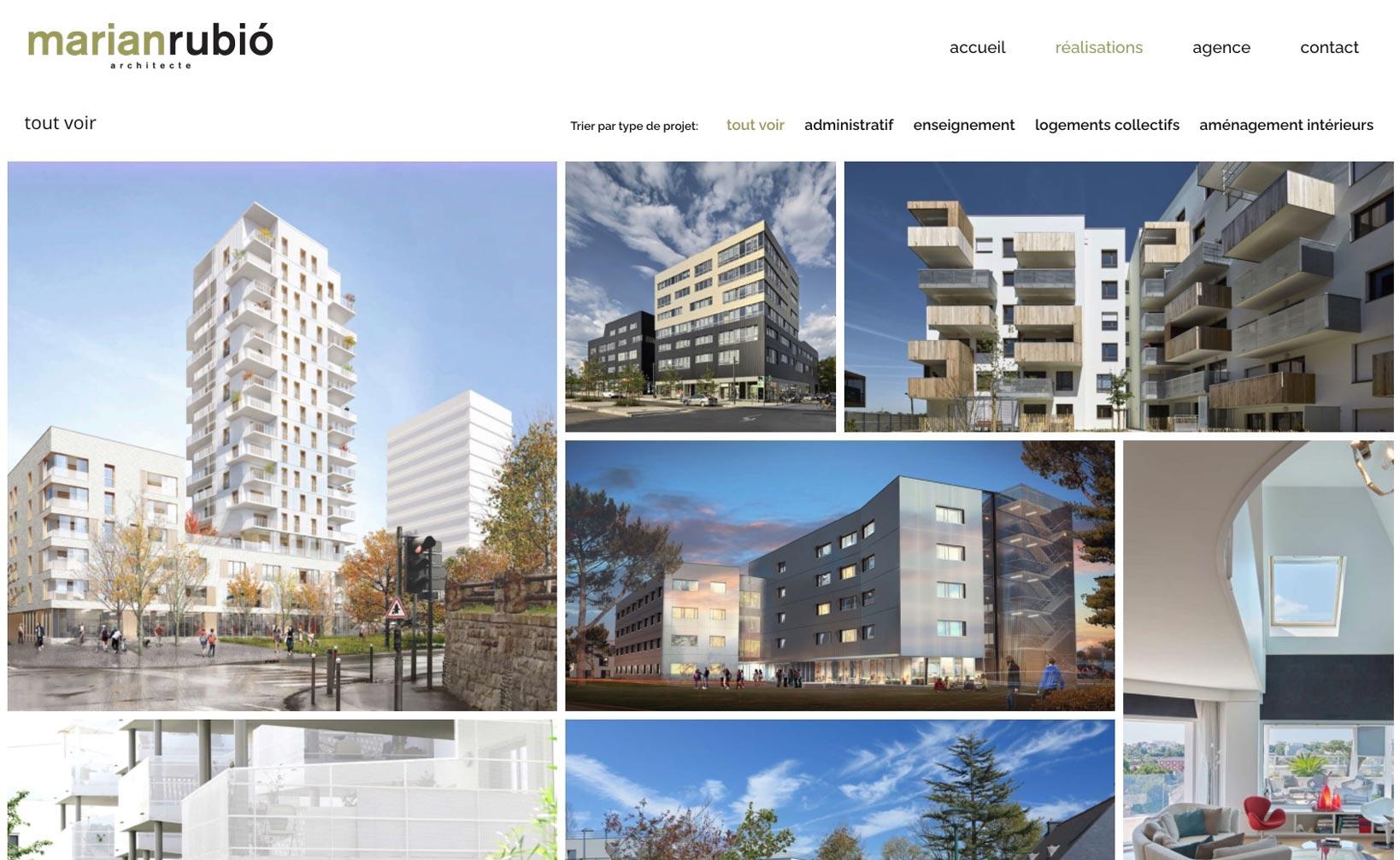 Marian Rubio Architecte - site web bureau